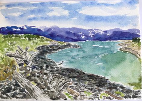 British Columbia Beach Watercolour