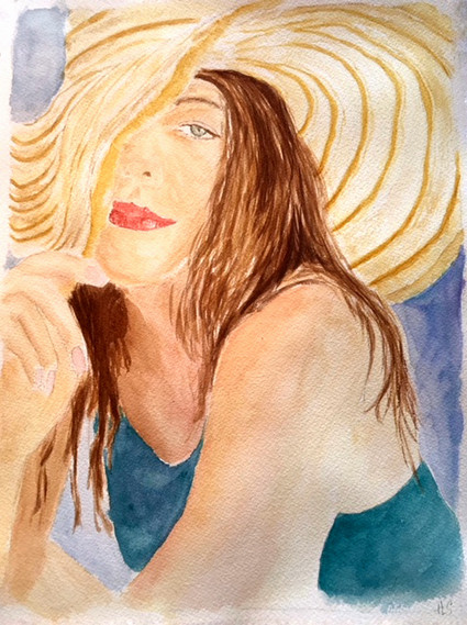 Beach Portrait Lady