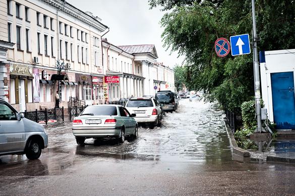 Ulan Ude, Siberia, Russia, flood
