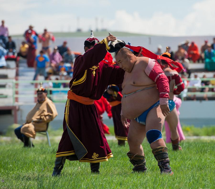 Mongolia, wrestling Nadaam