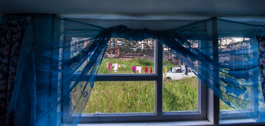 Siberia, window, shutters