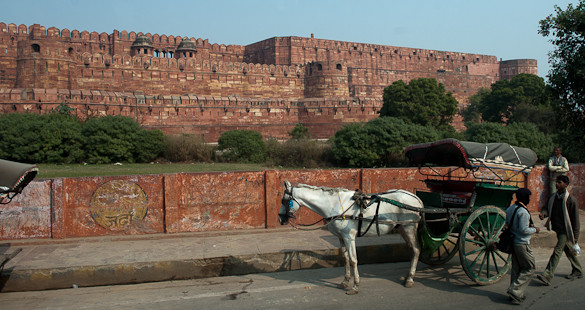 Agra, red fort, India