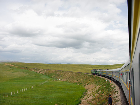On To Mongolia,                            Trans Mongolian Train Travel