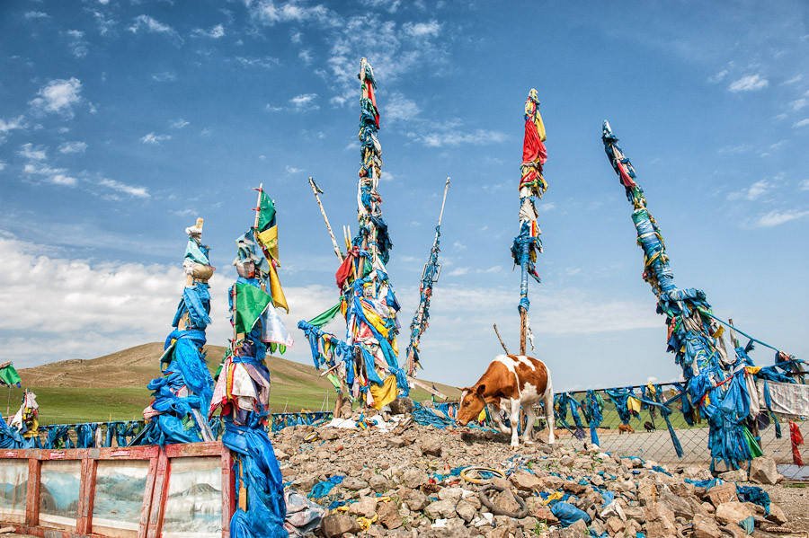 Mongolia prayer flags