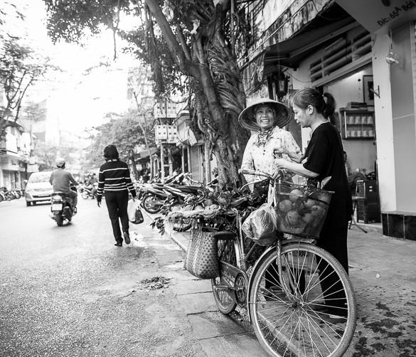 Hanoi women hawking