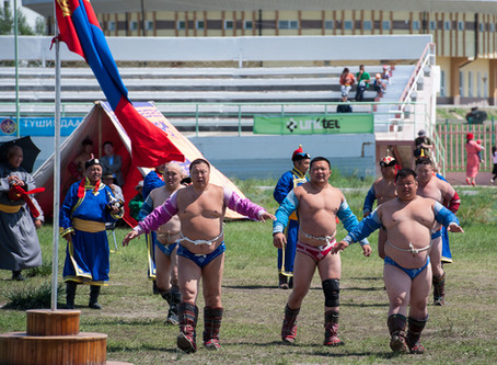 Mongolia Wrestling - Nadaam Games