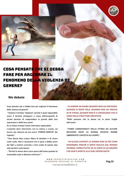 Progetto Io Valgo PRIMA RIVISTA DI EDUCAZIONE DELLA PREVENZIONE DELLA VIOLENZA DI GENERE
