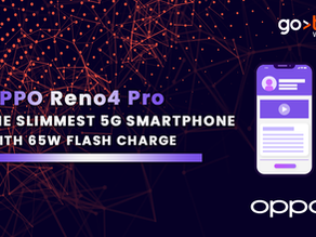 OPPO Reno4 Pro, the slimmest 5G smartphone with 65W flash charge