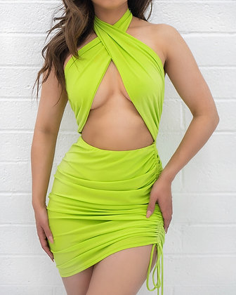 Tropics Dress - Lime