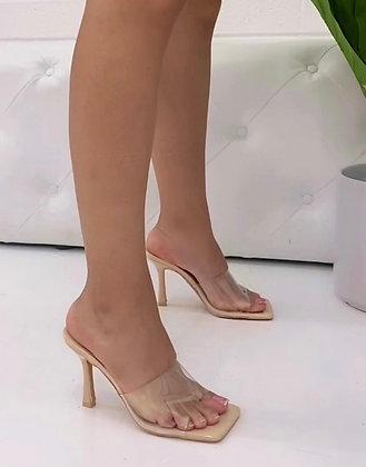 Staple Heel - Nude