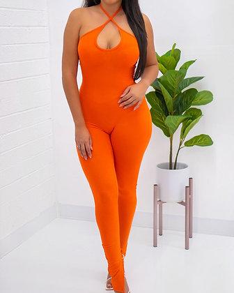 Uninterested Jumpsuit - Orange