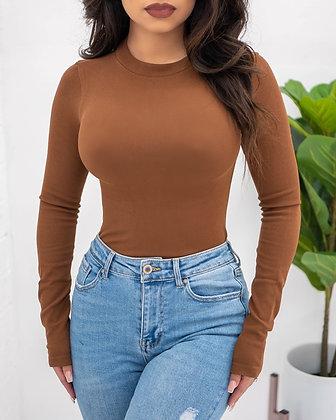 Not So Basic Bodysuit - Brown