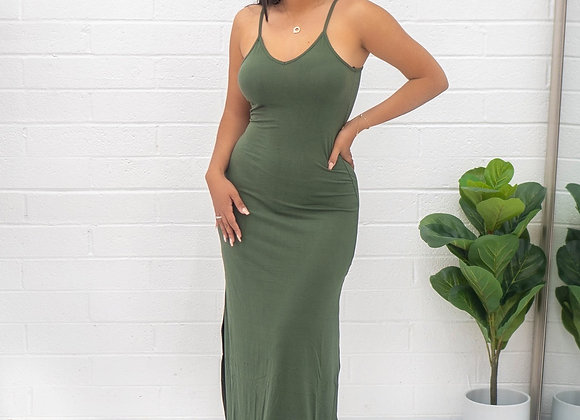 Vibe Dress - Olive