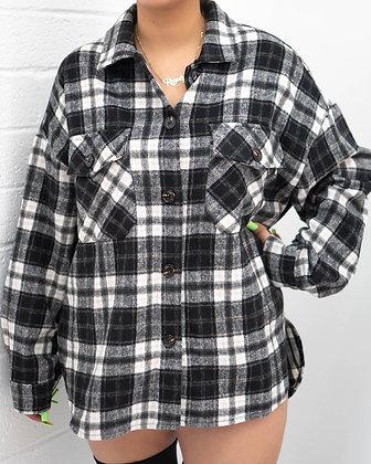 Warm Wishes Flannel - Black