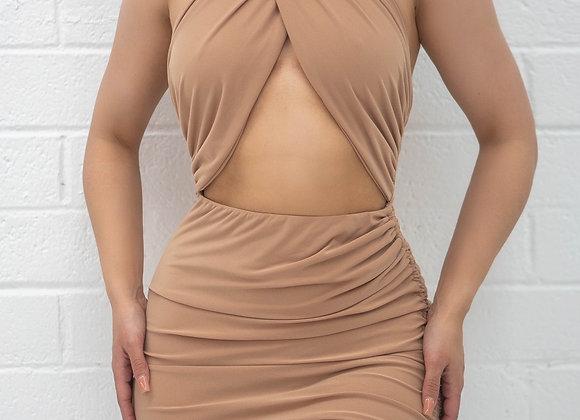 Tropics Dress - Nude