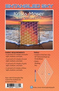Entangled Sky Quilt Pattern Back