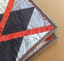 Quilting tutorial on double machine binding with pip