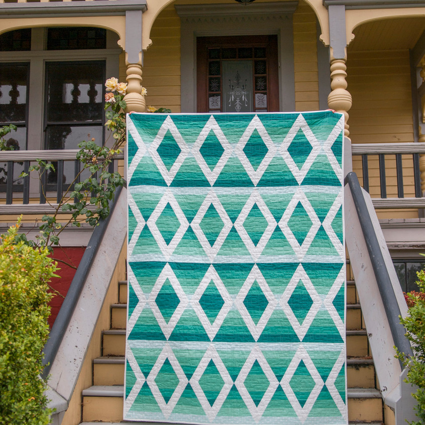 Aztec Diamonds on the stairs in front of the house