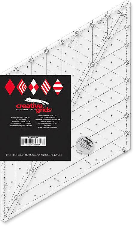 Creative Grids Non-Slip 60 Degree Diamond Ruler