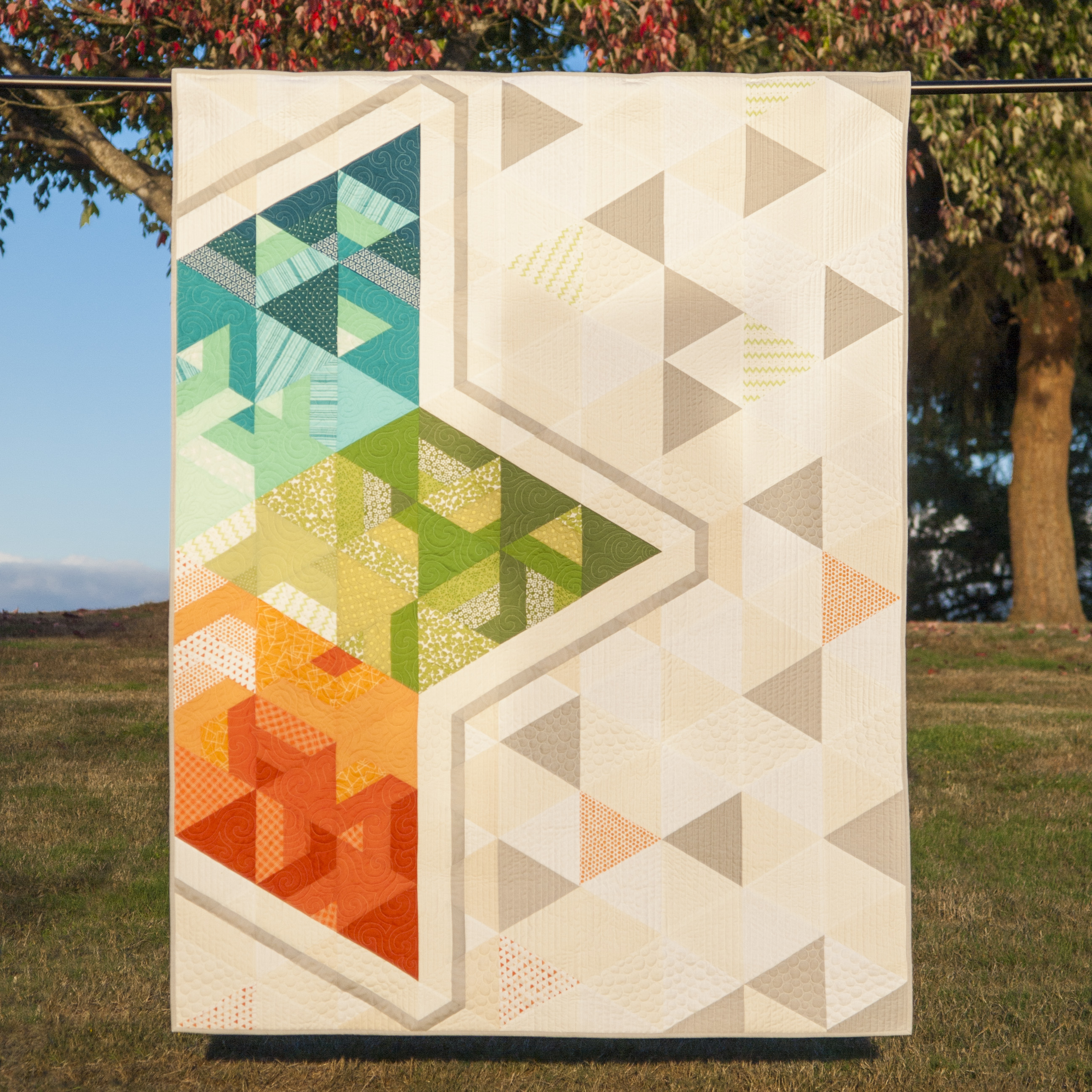 Double Struck Star Quilt
