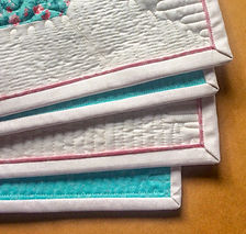 Quilting tutorial on self-flanged Binding