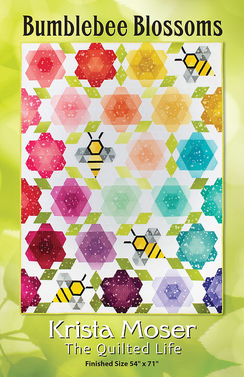 Bumblebee Blossoms Printed Pattern