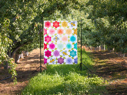 Bumblebee Blossoms Quilt