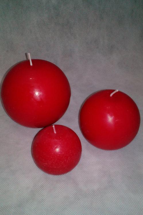 Vela bola vermelha