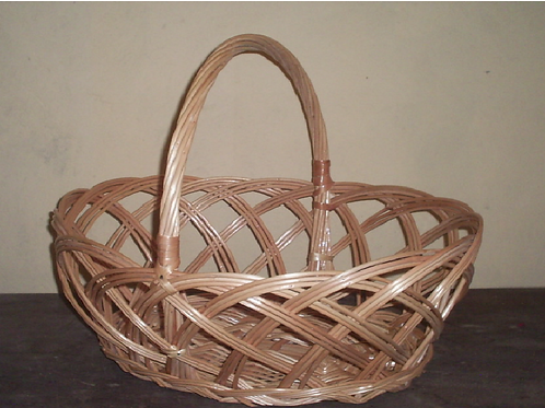 cesta fruteira vime alça torcida