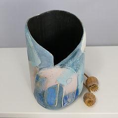 Susan Luker Painting Engobes on pots Devon