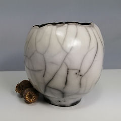 Susan Luker Naked Raku burnished Porcelain bowl