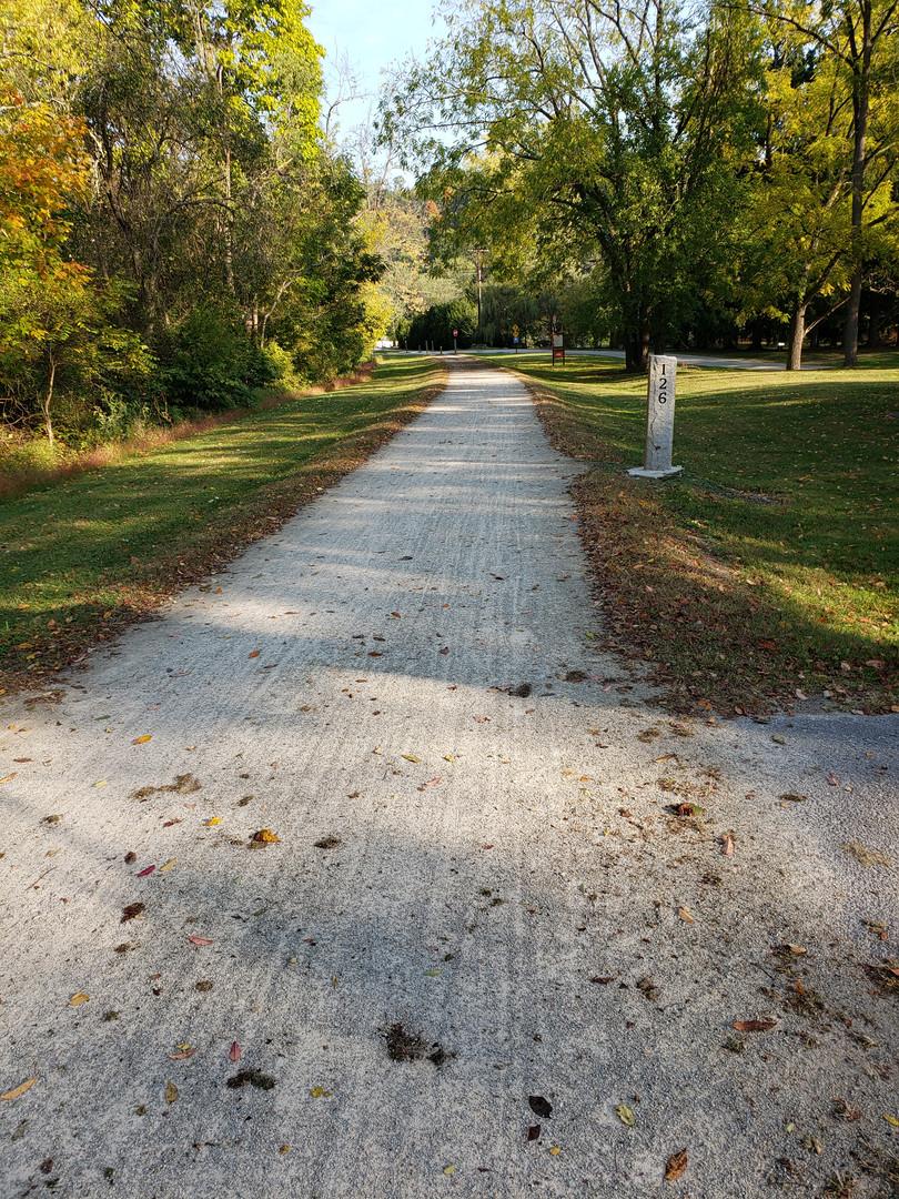 Trail running through township.