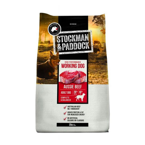 Stockman & Paddock Working Dog Beef 20KG