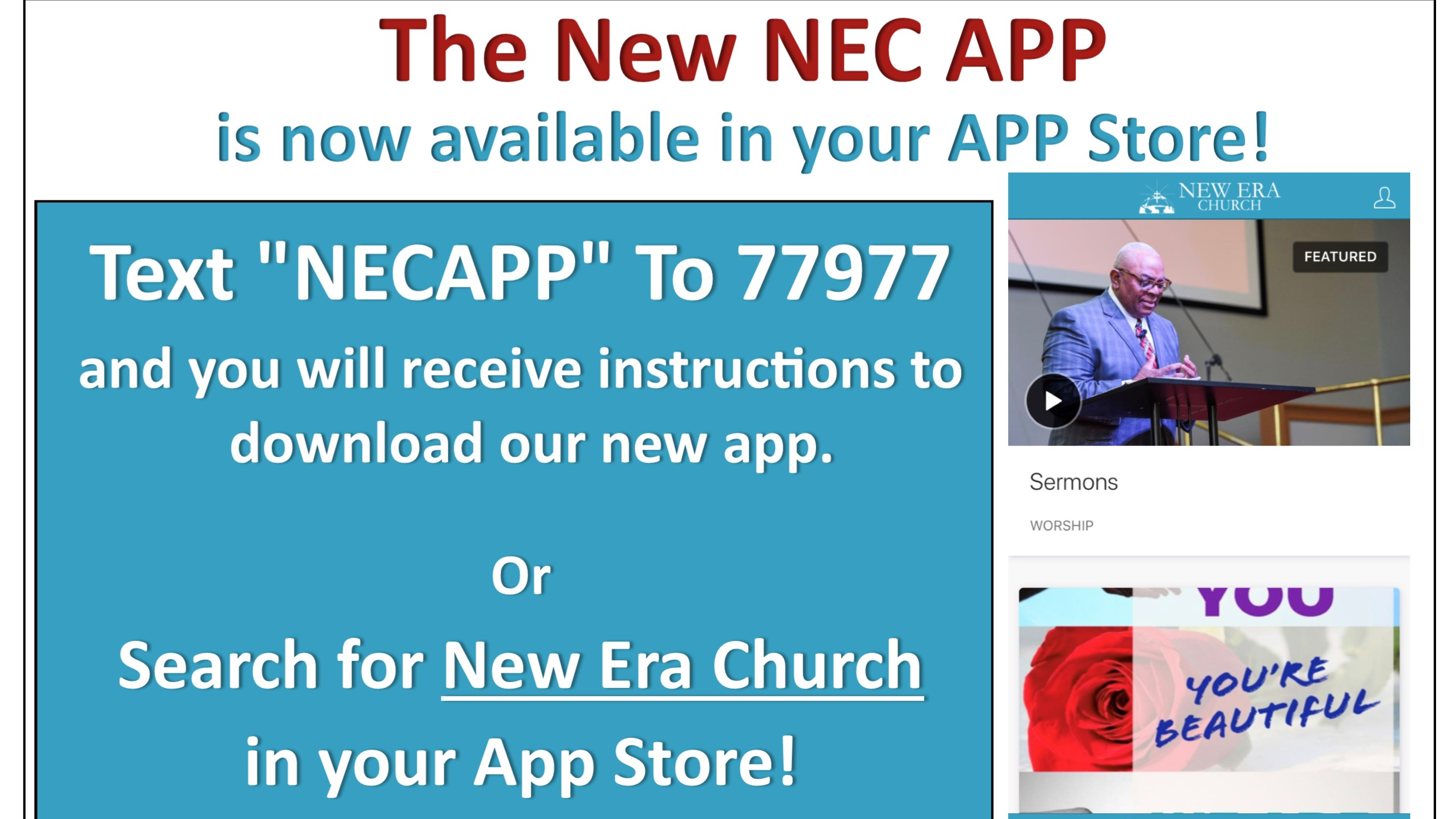 New Era Church App - App Store 2019_edit