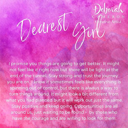 Dearest Girl Coaster