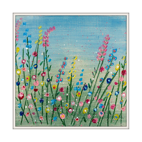 Perfect Summer Garden Mounted Art Print