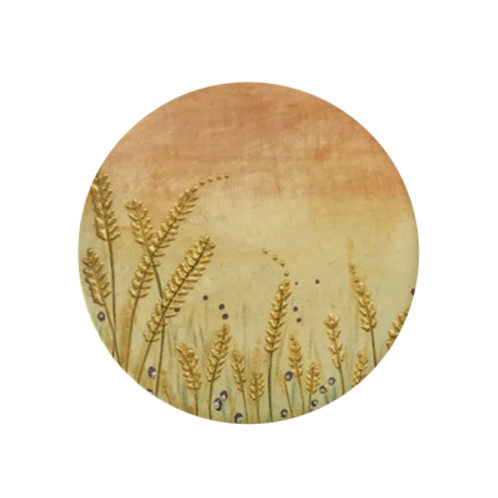 Sunset Barley Ceramic Coaster