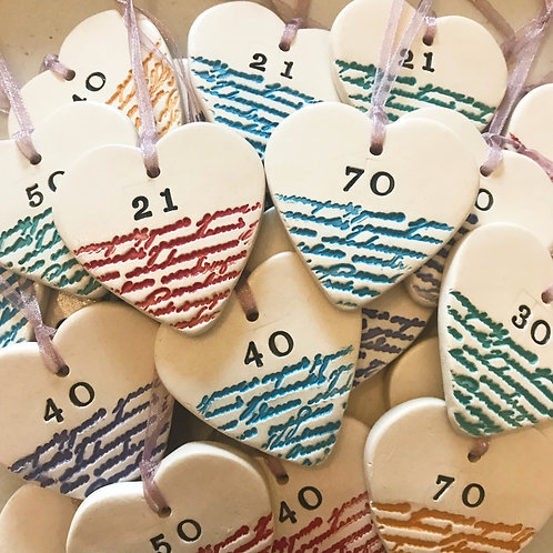Birthday Ceramic Hearts