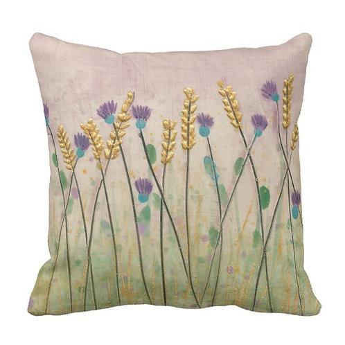 Thistles and Barley Cushion