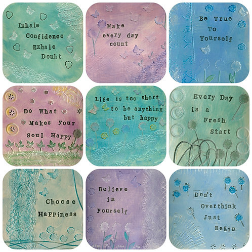 Positive Life Quotes Coaster Selection 2