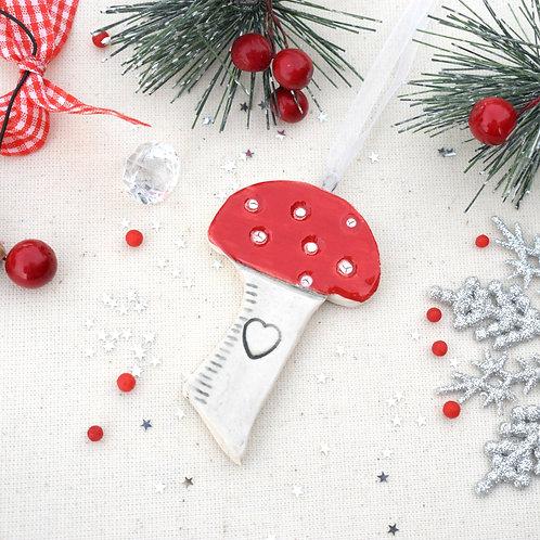 Ceramic Christmas Toadstool