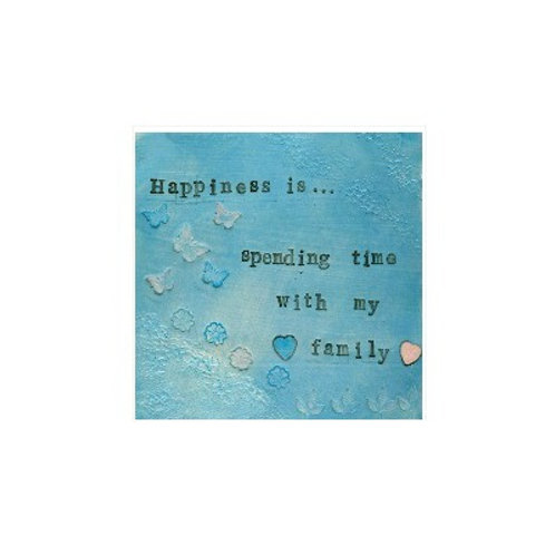 Happiness/Family Mounted Mixed Media Art Print