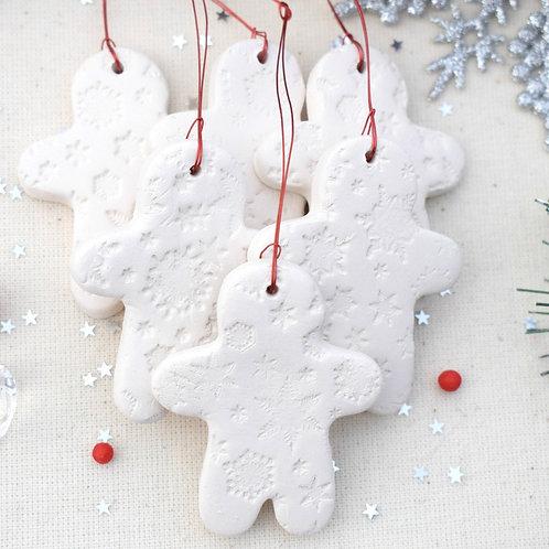 6 Mini Gingerbread Man Decorations