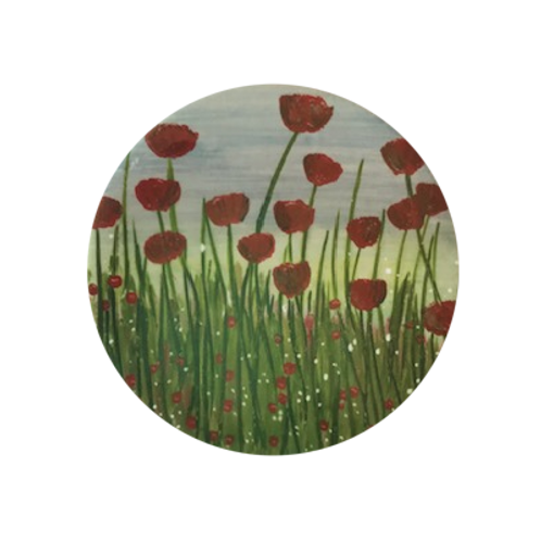 Poppy Field Ceramic Coaster