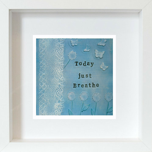 Breathe Framed Mixed Media Art Print