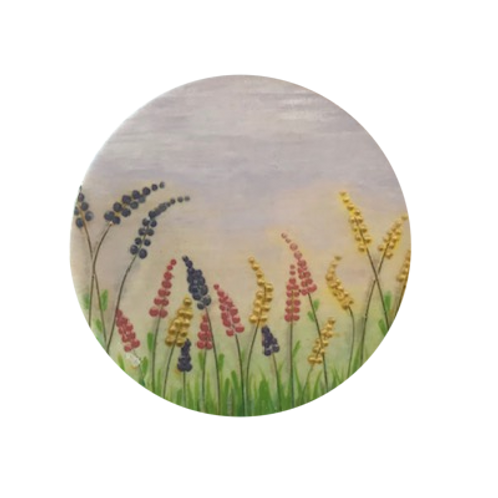 Lovely Lupins Ceramic Coaster