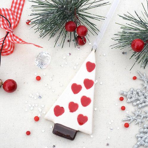 Ceramic Pointy Christmas Hearts Tree