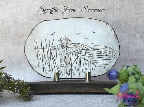 Sgraffito Ceramic Art-Scarecrow