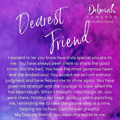 Dearest Friend Coaster