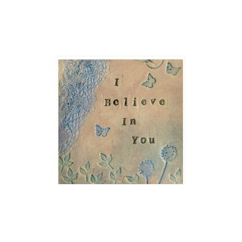 I Believe In You Mounted Mixed Media Art Print